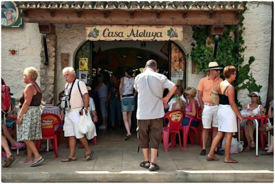 Market Day in Jalon (Xalo) Spain